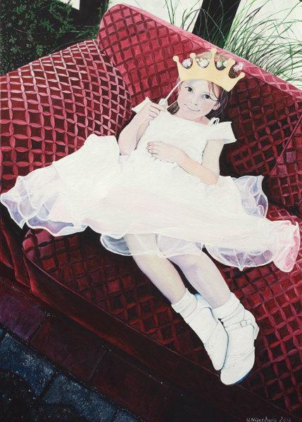 Die Prinzessin auf dem Sofa, Gemälde